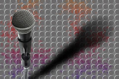 Double Exposure Microphone.The Future Ideas Royalty Free Stock Images