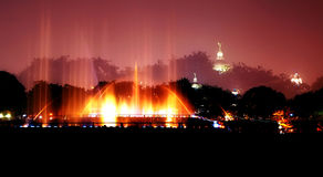 DOuble exposure of Musical fountain Royalty Free Stock Photography