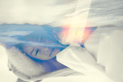 Double exposure portrait of child Stock Photography