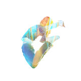 Double exposure sporty Stock Images