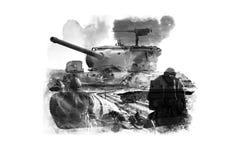 Double Exposure tanks Stock Photos