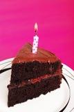 double för födelsedagcakechoklad royaltyfria bilder