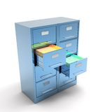 Double file cabinet Royalty Free Stock Photo
