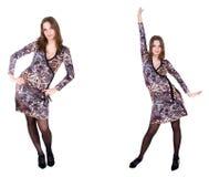 Double fille dans la robe Image libre de droits