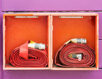 Double fire hose Royalty Free Stock Photos
