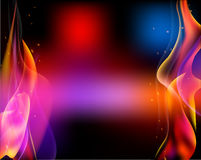 Double fire torch vector colored sparks burn horizontal Royalty Free Stock Photo