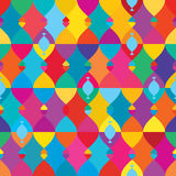 Double fish symmetry seamless pattern. This illustration is abstract double fish in symmetry and colorful with seamless pattern Stock Photography