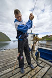 Double fish trophy Royalty Free Stock Photography