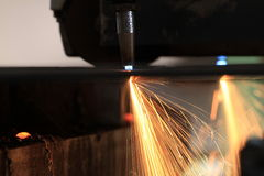 Double Flame Cutting Processing Royalty Free Stock Image