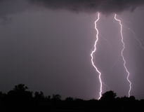 Double Flash. Thunderstorm with fear flashing Stock Image