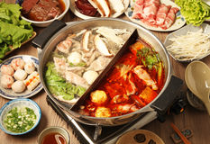 Free Double Flavor Hot Pot Royalty Free Stock Photo - 49743715