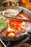 Double flavor hot pot Stock Photography