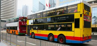 Double floor buses Royalty Free Stock Images