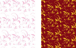 Double flower background. Package of two backgrounds in one set Royalty Free Stock Photo