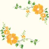 Double flower frame Royalty Free Stock Photos