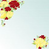 Double flower frame Stock Images