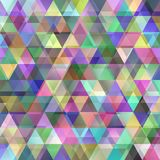 Double fond abstrait géométrique de polygone de triangle - graphique de vecteur Images libres de droits