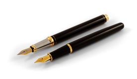 Double fountain pen royalty free stock photo
