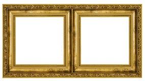Double frame. Isolated on white background Stock Image