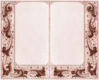 Double frame - sepia Royalty Free Stock Photo