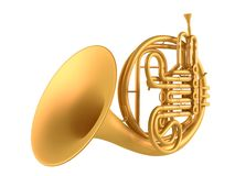Double French Horn isolated Stock Photo
