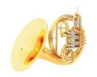 Double French Horn isolated Royalty Free Stock Photo
