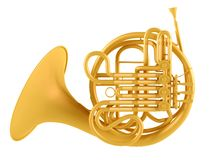 Double French Horn isolated Stock Photography