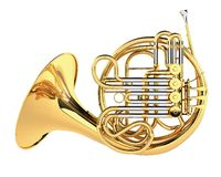 Double French Horn isolated Royalty Free Stock Photography