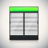Double fridge with glass door Royalty Free Stock Image