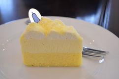Double Fromage Cheese Cake Royalty Free Stock Image