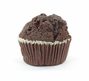 Double Fudge Chocolate Muffin Stock Photos