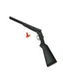 Double fusil de chasse de baril Images libres de droits