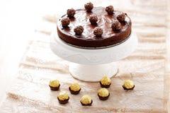 Double gâteau au fromage de chocolat photo libre de droits
