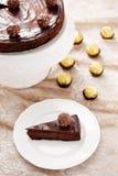 Double gâteau au fromage de chocolat photo stock