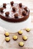 Double gâteau au fromage de chocolat photographie stock libre de droits