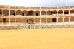 Double gallery in the bullring of Ronda, Spain Royalty Free Stock Photography