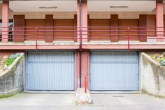 Double garage door. For residential house stock photos