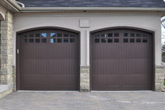 Double Garage Doors Royalty Free Stock Photo