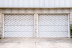 Double Garage Doors Stock Photos