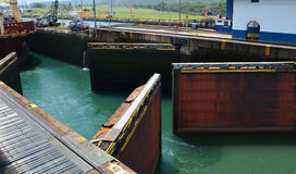 Double Gates Opening for Ship Stock Photography