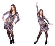 Double girl in dress Royalty Free Stock Image