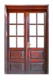 Double glazed wooden door Stock Photos