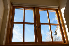 Double glazed wooden window Royalty Free Stock Photography