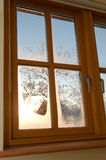 Double glazed wooden window Stock Photography