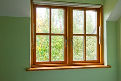 Modern Wooden window Stock Images
