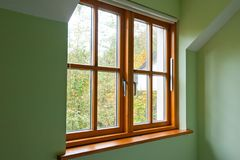 Modern Wooden window Royalty Free Stock Photography