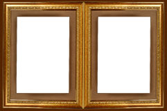 double gold picture frame royalty free stock photo