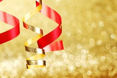 Double gold stroke Royalty Free Stock Photography