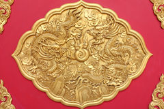 Double golden dragon Stock Photos