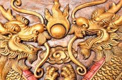 Double golden dragons Stock Photos